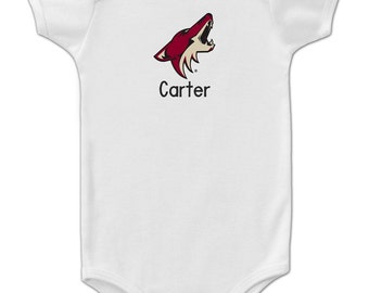 Personalized Arizona Coyotes Baby Bodysuit