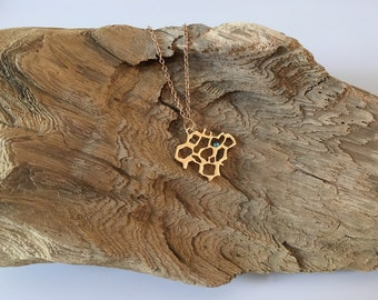 Gold plated Honeycomb Necklace