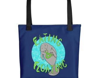Eating and Floating ManateeTote bag