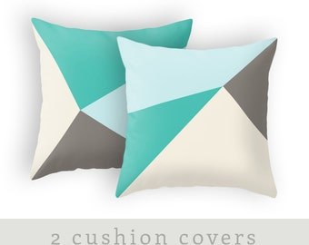 2 Teal and brown cushion covers teal and brown throw pillow teal home decor teal cushion teal pillow teal throw pillow teal and brown decor