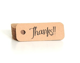 Thank You Hang Tags / Thank You Tags / Mini Thank You Tags / Thank You Kraft Tags / Thank You Gift Tags / Favor Tags / Spring Gift Tags