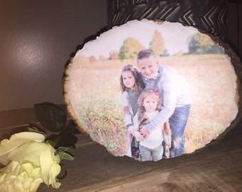 Family photo on basswood round | Personalized Rustic Wood Photo | Picture to wood | Custom Photo on Basswood Round | Your photo on wood