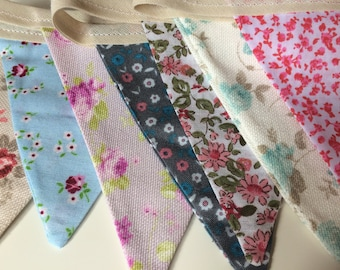 Mismatched Floral Bunting