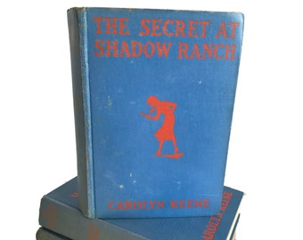 Vintage Nancy Drew The Secret at Shadow Ranch, No. 5, 1931 by Carolyn Keene, Mystery Stories, Mysteries