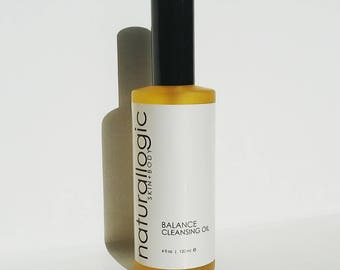 BALANCE Cleansing Oil. Oil Cleansing Method. Oil Cleanser. Double Cleanse. Oily, Combination, Acne Prone. Natural Organic Skin Care. Vegan.