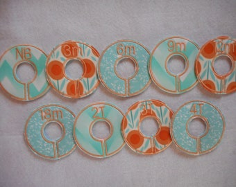mint geometric closet divider set