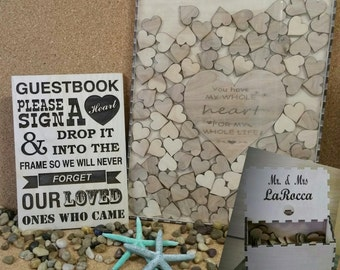 Wedding Guest Book Alternative Guest Book Drop Top Box shadowbox,Rustic Guestbook,Personalized Guestbook,Wedding Shadowbox