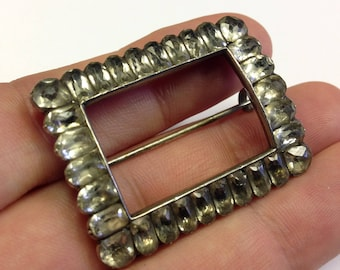 Georgian, silver and paste converted buckle brooch.