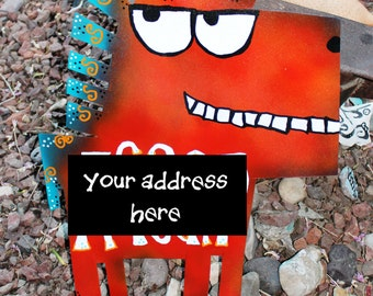 Custom Address Sign: Metal Horse, Dog, Cat, Animal or Shape of Your Choice