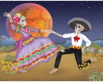 Dancing in the Desert Print