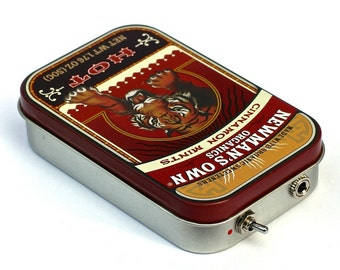 Portable Amp and Speaker for MP3 Player -Tiger/Red handmade mint tin altoids newman's phone amplifier