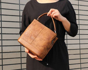 Brown Leather Tote, Leather Tote Bag, Leather Handbag, Small Leather Tote, Tote Bag, Shoulder Bag, Leather Bag, Crossbody Bag, Gift For Her