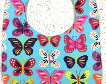 Butterfly Baby Bib - Infant Bib - Dribble Bib - Baby Girl - Insect - Summer - Butterflies - Baby Shower Gift - Handmade