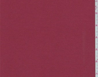 Cherry Red Cotton Twill, Fabric By The Yard