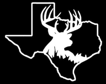 texas hunting white tail buck deer decal sticker