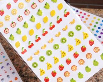 Cute Mini-Fruits Planner stickers - Cute Mini Ballon Planner sticker - Weather Planner Deco Sticker