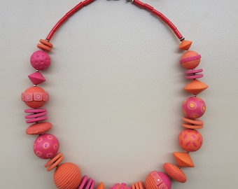 Orange/pink necklace
