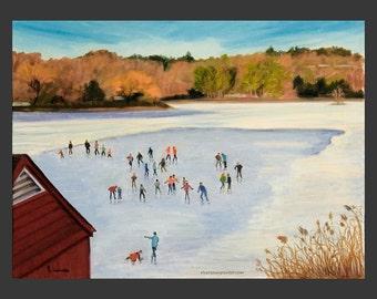Tarrytown: Skaters on the Lake
