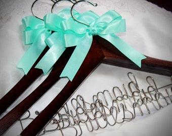 Bridesmaid hangers, Bridesmaids gifts,  bridesmaids hangers,  bridesmaid set, set of 3 hangers,  maid of honor gift,  bridal party hangers