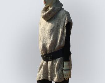Knit Poncho-Wool Poncho-Knitted Poncho-Chunky Poncho-Hand Knit Poncho-Winter Wool Poncho-Womens Wool Poncho-Chunky Knit Poncho