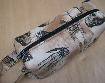 Gothic Hand Anatomy Bones Cosmetic Bag Makeup Bag LARGE