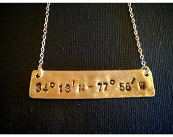 Do You Know Where You Are.... Coordinates Necklace