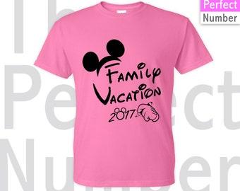Disney Family Vacation 2018 Matching Ladies T-shirt