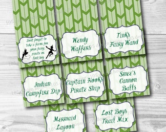 Peter Pan Food Labels Printable INSTANT DOWNLOAD - Peter Pan Food Cards - Peter Pan Buffet Cards - Neverland Tent Cards