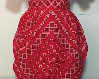 Vintage Red Bandana Style Apron
