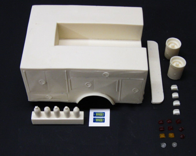 Featured listing image: 1:25 scale model resin Emergency! paramedic Squad 51 conversion kit