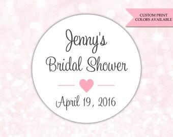 Bridal shower stickers - Bridal shower labels - Bridal shower favor stickers (RW069)