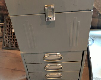 Vintage Metal File Cabinet Post office cabinet hard to find reduced price