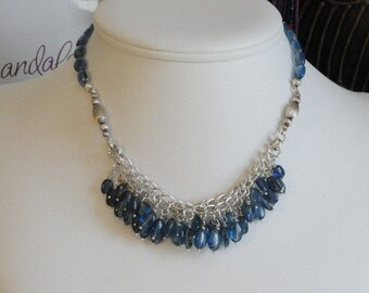 Kyanite beaded necklace  -  104
