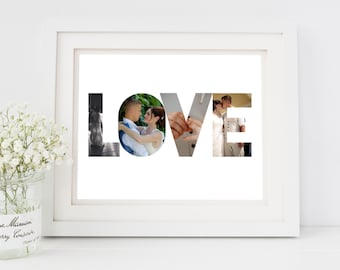 Engagement gift for fiance, engagement gifts for fiancee, personalised engagement gift for couple, custom photo gift for couples, UNFRAMED