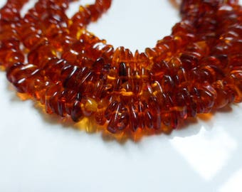 Natural Amber Chip Beads 14 Inch Strand 5mm-8mm, Craft Supplies, Jewellery Making, Beads, UK Seller (GB1017)
