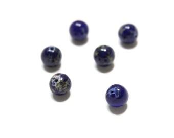 Natural Round Lapis 8mm Beads