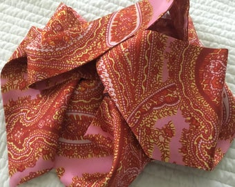 Pretty Vintage 60s Silk Scarf Sash Twiggy Spring