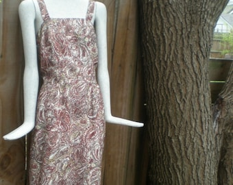 Cute brown paisley print sundress