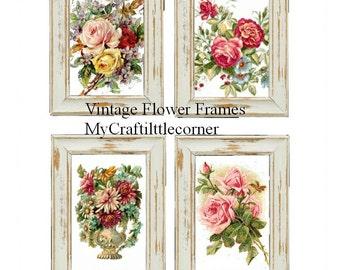 Set of 12 Vintage flower Frames INSTAND DOWNLOAD