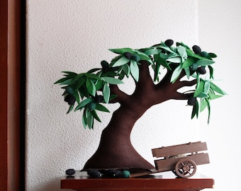 Olive Tree, Felt Tree,  Decorative Tree, Textil Tree, Soft Sculpture, New Home, Housewarming gif,t Nature Green planet, Sweet Home Olive oil