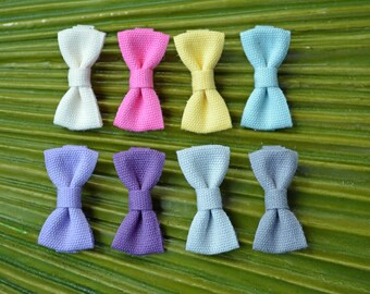 Modern Bow Fettuccia Italian Ribbon Mini Alligator Clip // Mini Bow Tie Hair Clip