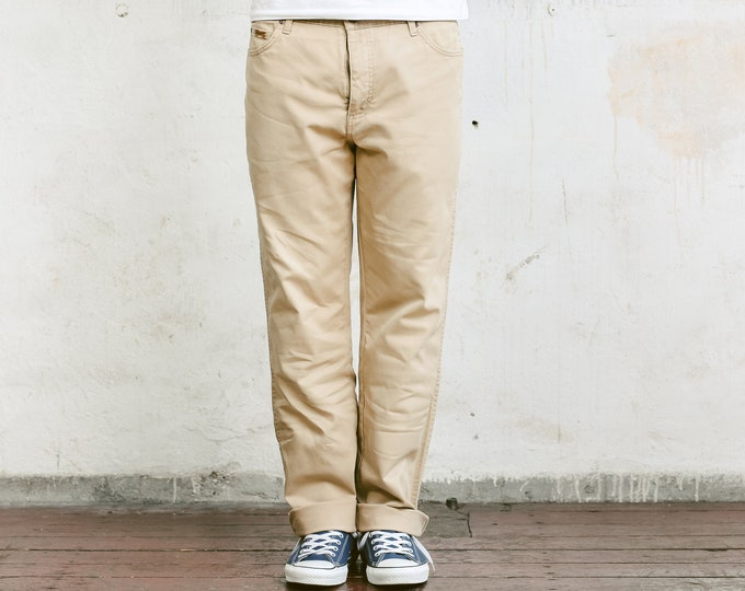 Brown 80s Wrangler Jeans . Vintage Tapered 80s Jeans Light Denim Jeans Mens Denim Trousers Straight Leg Beige Jeans Normcore . size W36 L32