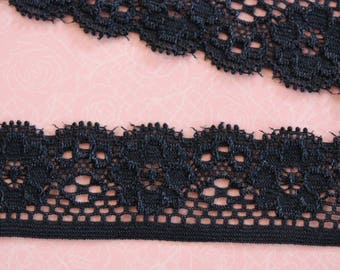 pattern Black Lace flowers