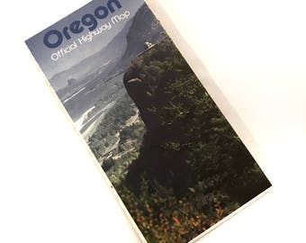 Vintage Highway Road Map Oregon 1986 or 1987 State Highway Map Collectible Travel Map Craft Supply