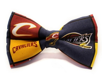Cleveland Cavaliers Bow Tie   Basketball   NBA   Boys Bow Tie   Dog Bow Tie   Lebron   Gift for Coach   Coach Gift   Basketball bow tie