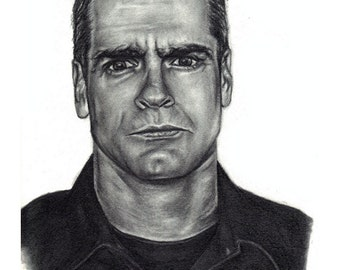 Henry Rollins Pencil Sketch Portrait 4x6, 5x7, or 8x10 Art Print