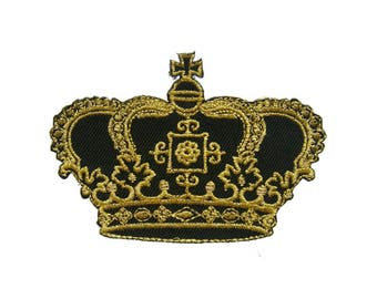 Crown Embroidered Applique Iron on Patch