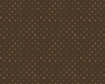 Wilmington Prints - Dot Brown - Words To Live By - Cotton Woven Fabric