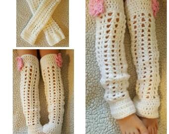 Crochet Lacy Thigh High Leggings DIGITAL PATTERN ONLY