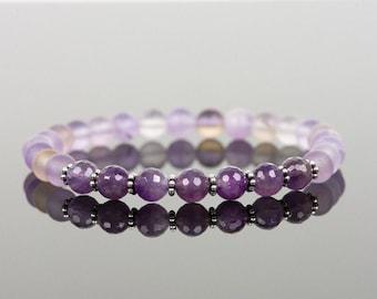Purple Bracelet, Ametrine Bracelet, Healing Bracelet, Matte Ametrine, Healing Gemstone Bracelet, Gemstone Bracelet, Handmade Jewelry,